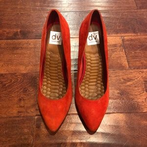 DV by Dolce Vita Red Pointed Toe Pumps - Suede